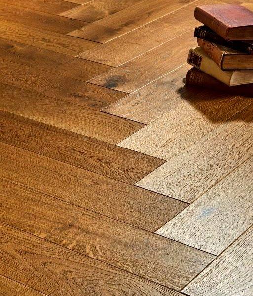 Riviera Herringbone Click 14/3 x 150mm Smoked Oak Engineered Wood