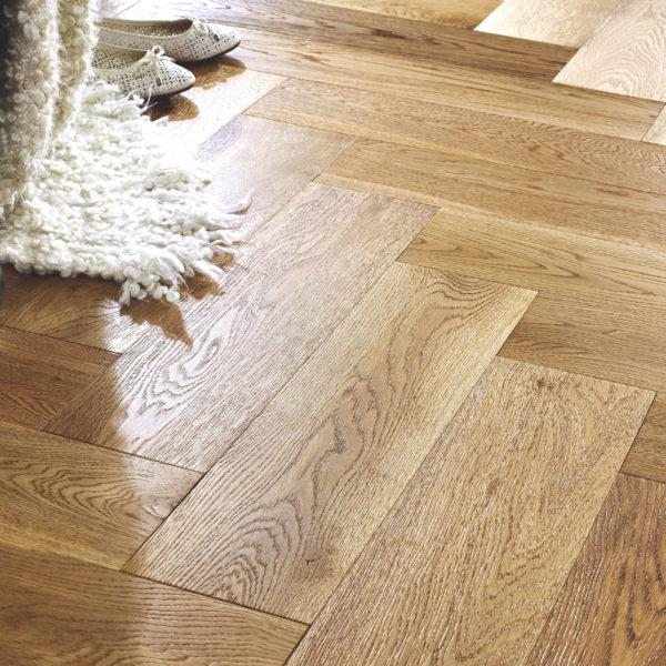 Riviera Herringbone Click 14/3 x 150mm Natural Oak Engineered Wood