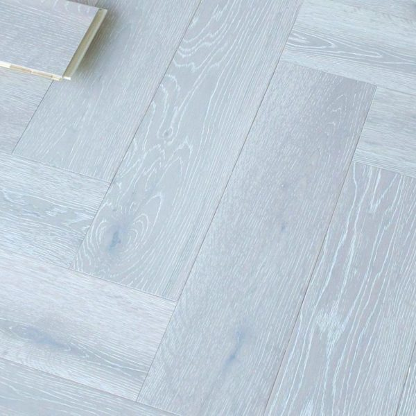 Riviera Herringbone Click 14/3 x 150mm White Oak Engineered Wood