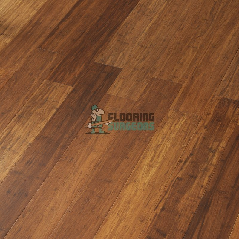Carbonised Stranded Woven 14mm Real Wood Bamboo Flooring