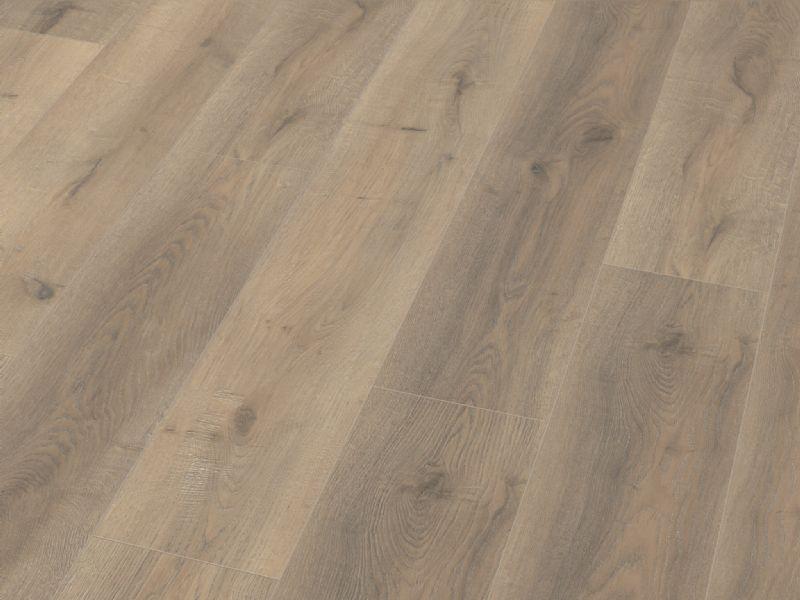 Fusion Classic 12mm Grey Beige Oak 4V Groove Laminate Flooring