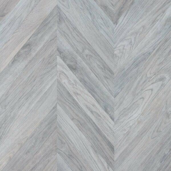 Faus 8mm Masterpiece Chevron Grey Laminate Flooring