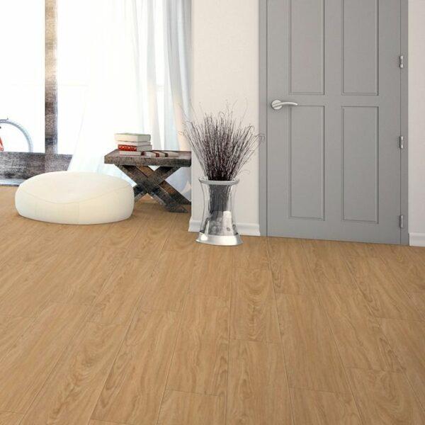 Pro 8mm Light Oak Effect Luxury Vinyl Click Flooring