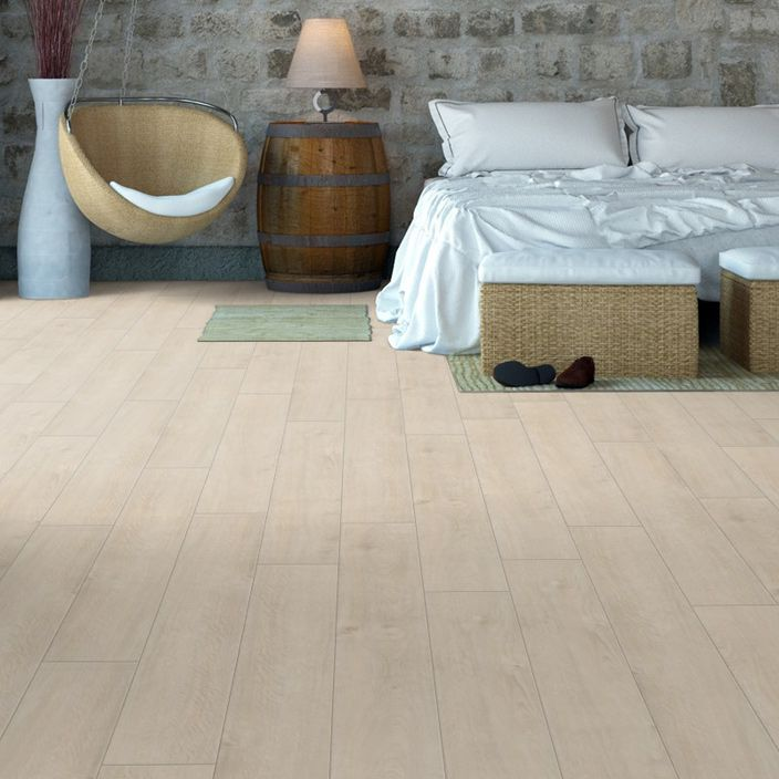 Pro 8mm Ivory White Oak Effect Luxury Vinyl Click Flooring