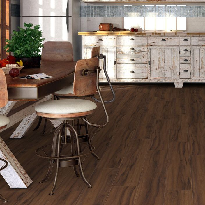 Pro 8mm Walnut Effect Luxury Vinyl Click Flooring