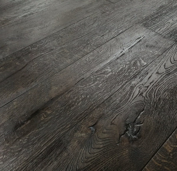 New York 15/4 x 190mm Black Distressed Hard Waxed Oiled Oak