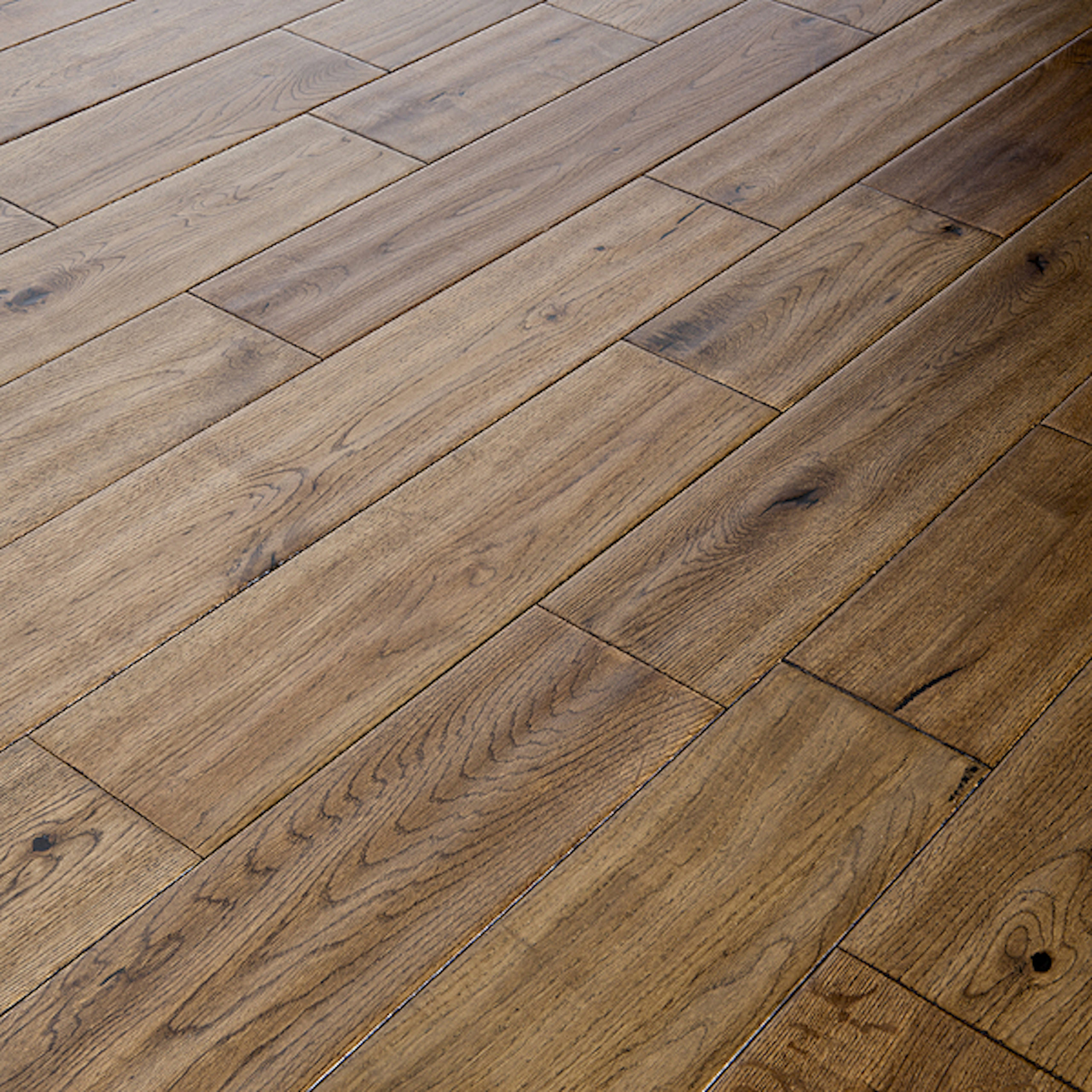 Alabama 125mm Golden Oak Oiled Hand Scraped Solid Wood Flooring
