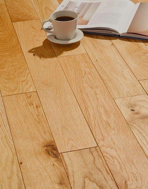 Alabama 90mm Classic Brushed & Oiled Oak Solid Wood Flooring
