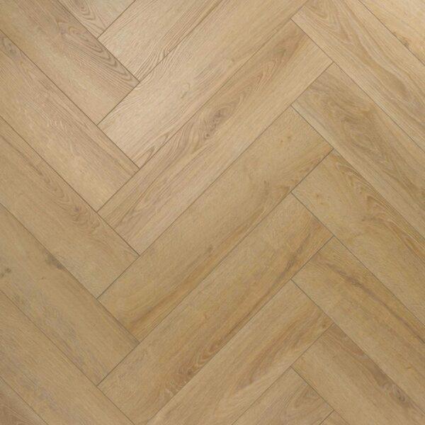 Nature AC6 Herringbone 12mm Shortbread Oak Laminate Flooring