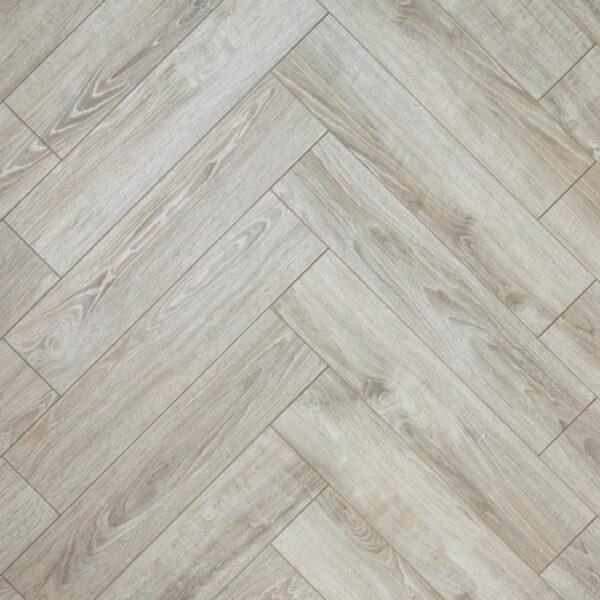 Nature AC6 Herringbone 12mm Pearl Oak Laminate Flooring