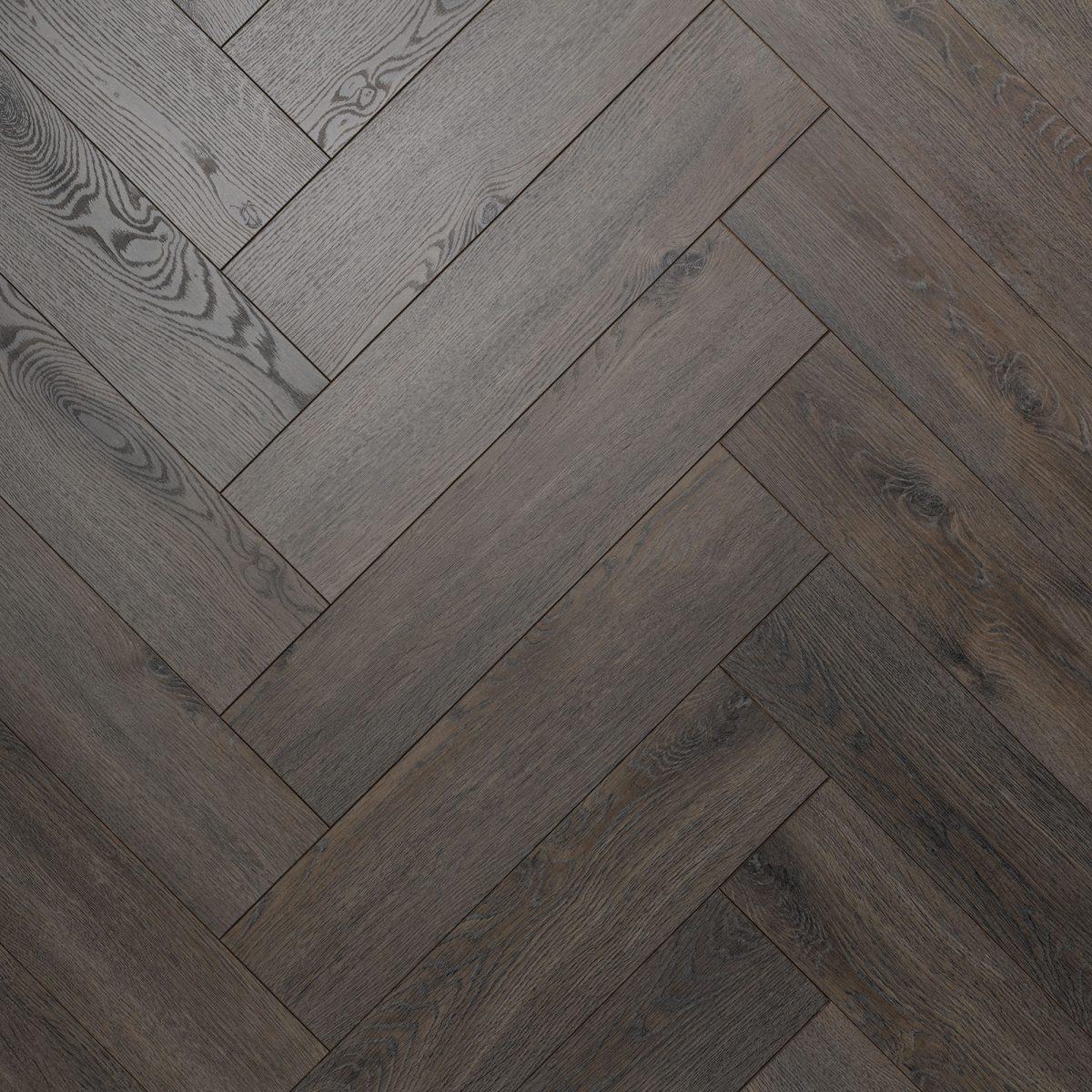 Nature AC6 Herringbone 12mm Dark Knight Laminate Flooring