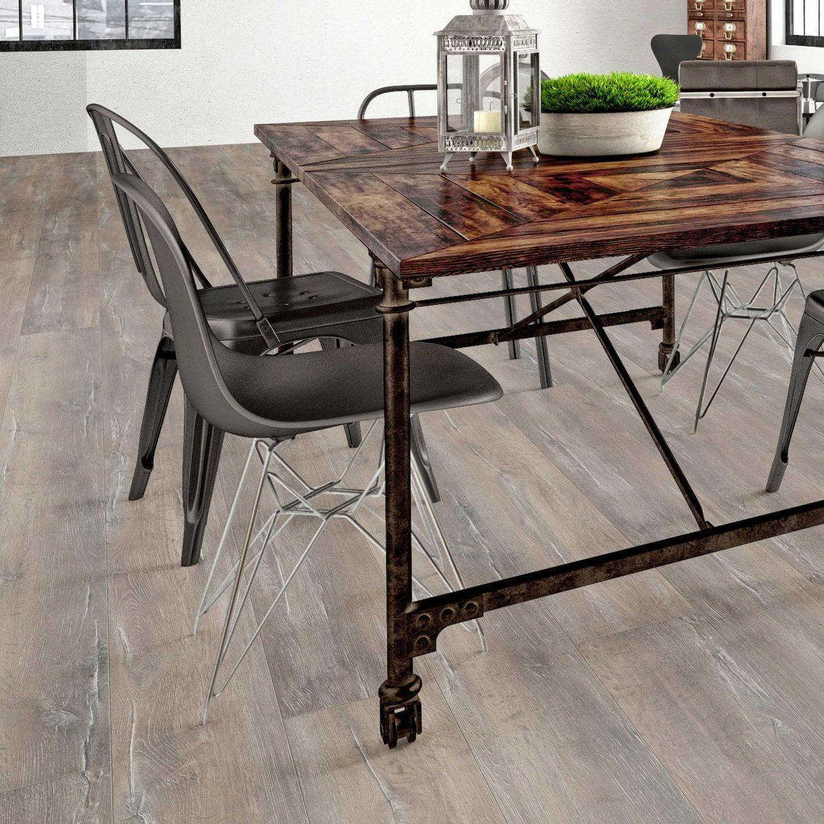 Nature XXL 12mm Weathered Rustic Oak 4V Groove Laminate Flooring