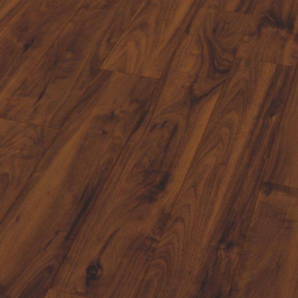 Fusion Gloss 12mm American Dark Walnut 4V Groove Laminate Flooring