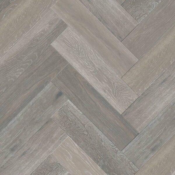 Strata 14/3 x 90mm Slate Grey Oak Herringbone Engineered Flooring