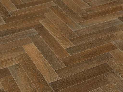 Strata 14/3 x 90mm Smoked & Limed Oak Herringbone Engineered Flooring