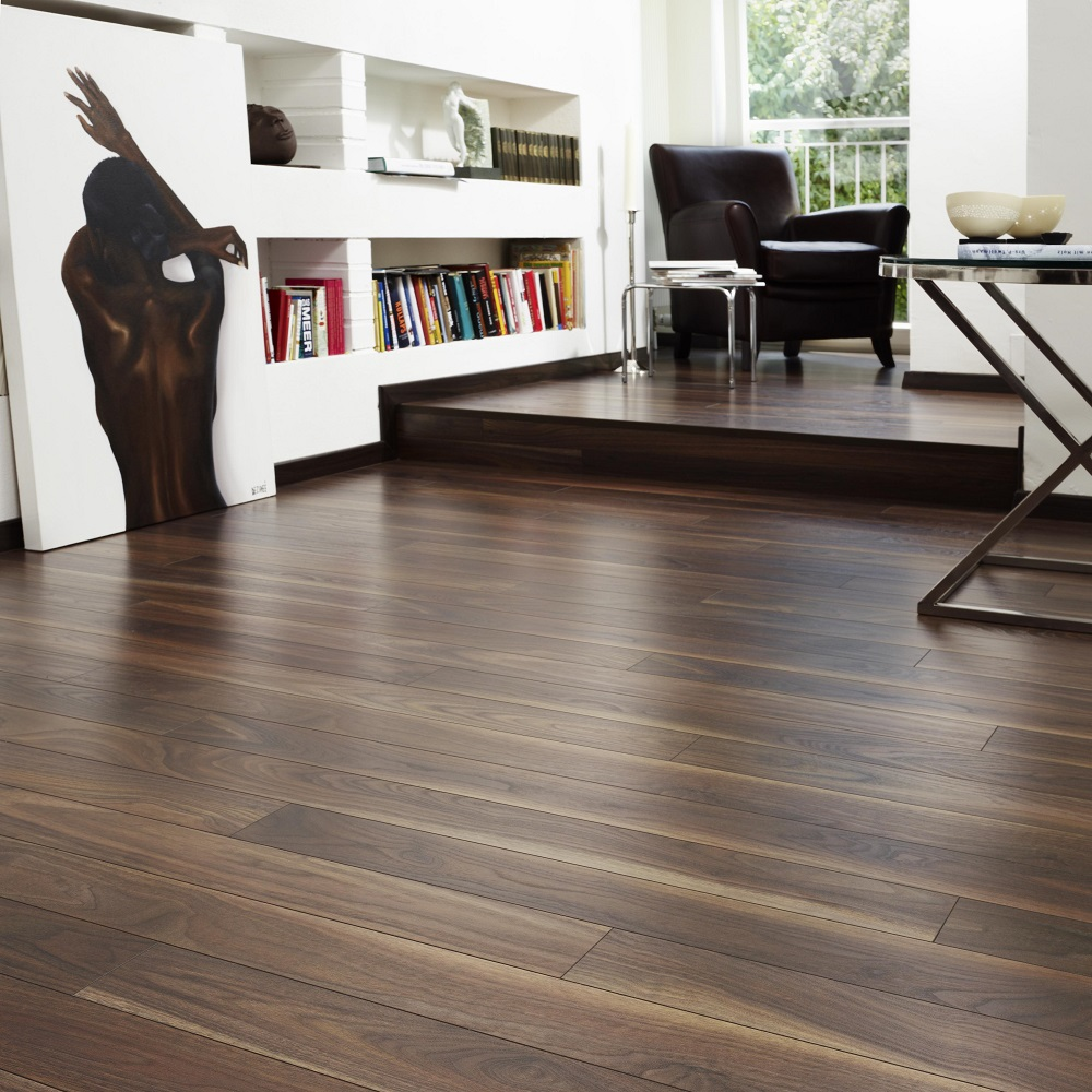 Home Classic 12mm Dark American Walnut 4V Laminate Flooring