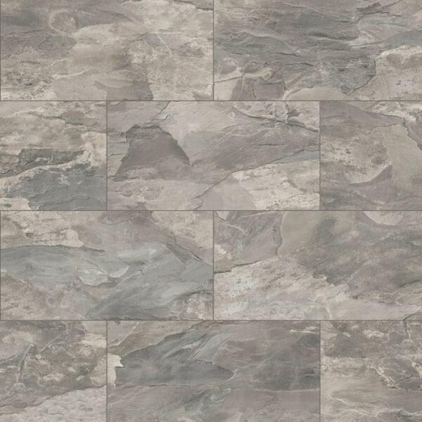 Home Tile Effect 8mm Silver Tornado Slate Laminate Flooring