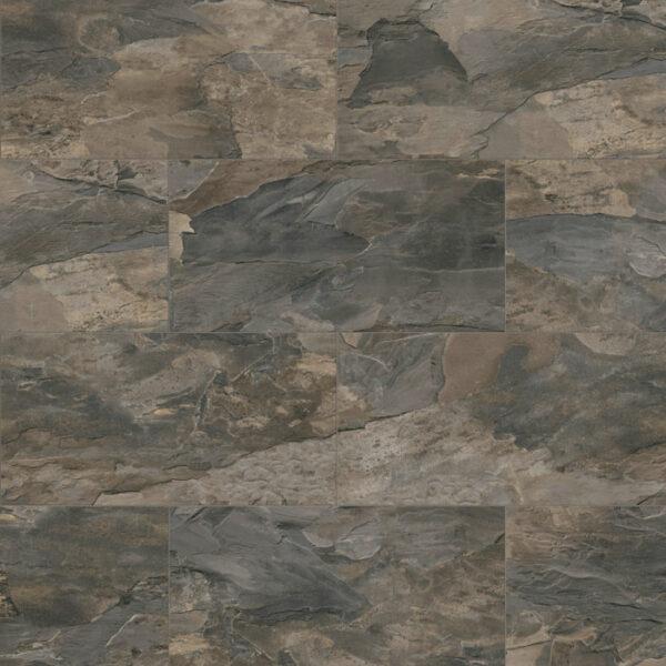 Home Tile Effect 8mm Brown Tornado Slate Laminate Flooring