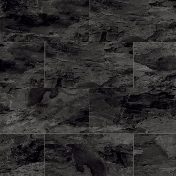 Home Tile Effect 8mm Black Tornado Slate Laminate Flooring