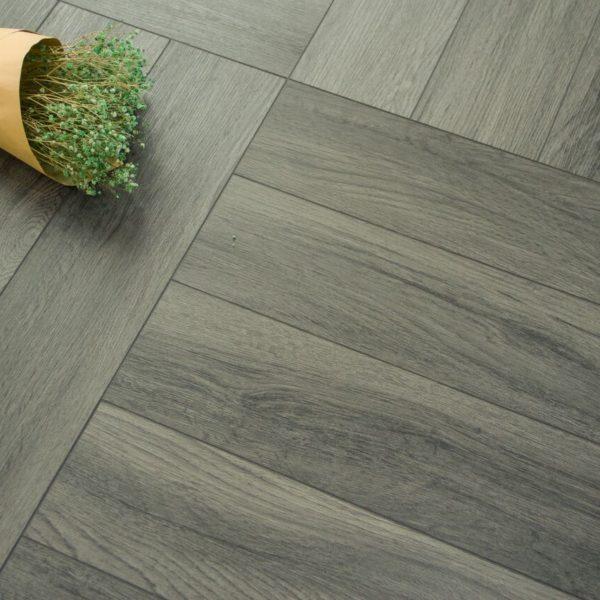 Boutique Herringbone 5mm Ocean Grey Oak Luxury Vinyl Click Flooring