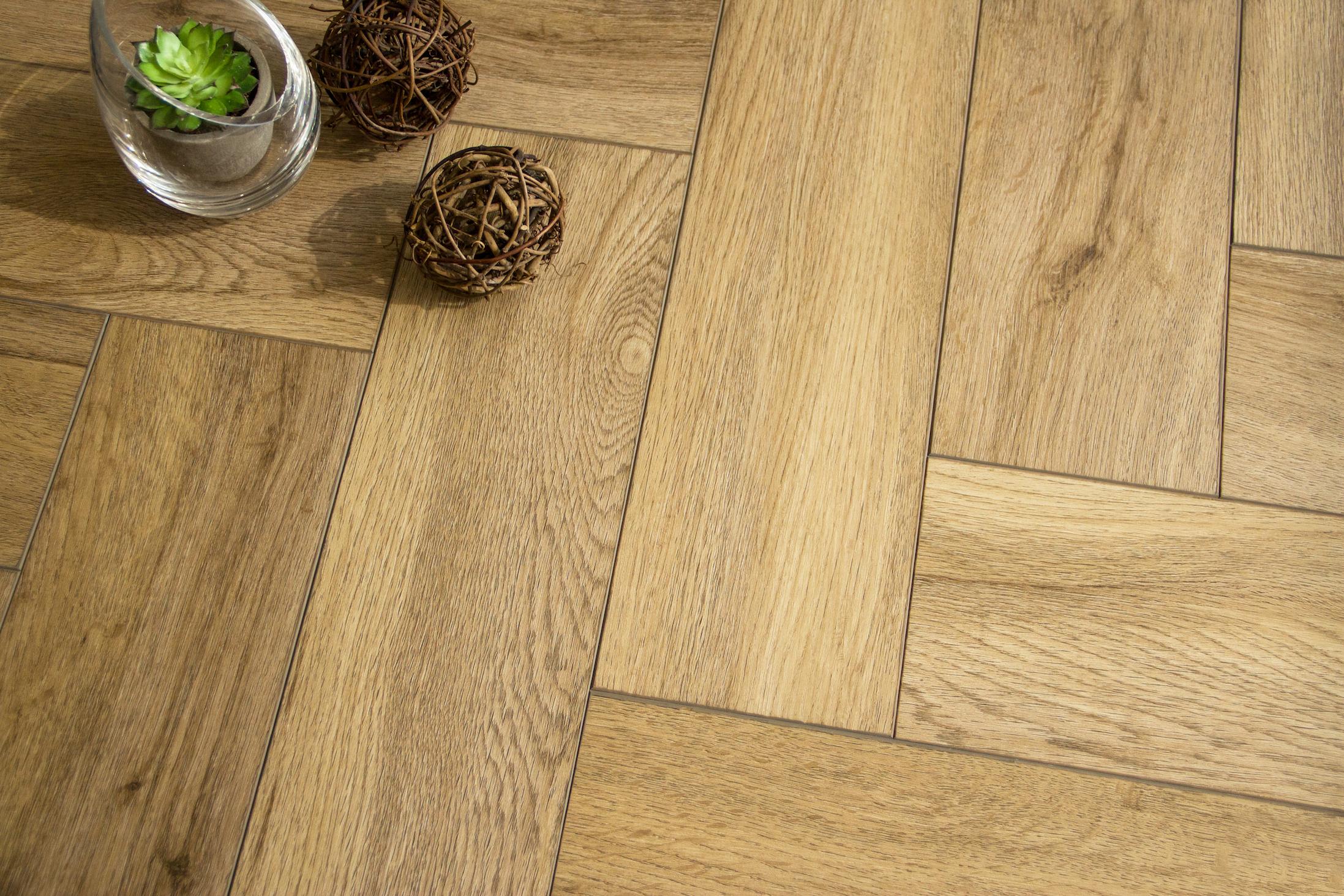 Boutique Herringbone 5mm Natural Oak Luxury Vinyl Click Flooring